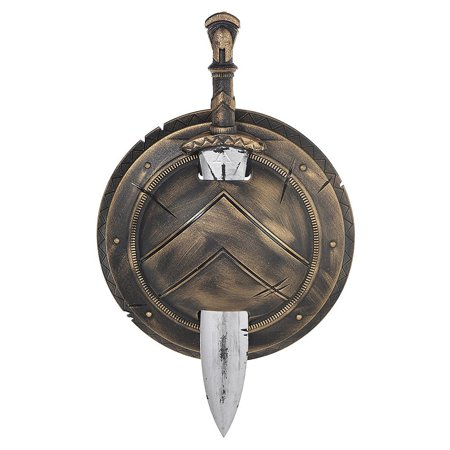 Spartan Shield and Sword Set Child Costume Accessory](Toy Sword And Shield)