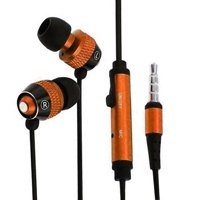 Orange In-Ear Headphones Earphones Earbuds with Mic Microphone for Samsung Galaxy S8 S8 Plus S7 S6 S5 Note 8 iPhone 6 6s Plus SE 5 5s 5c Cell Phones NEW