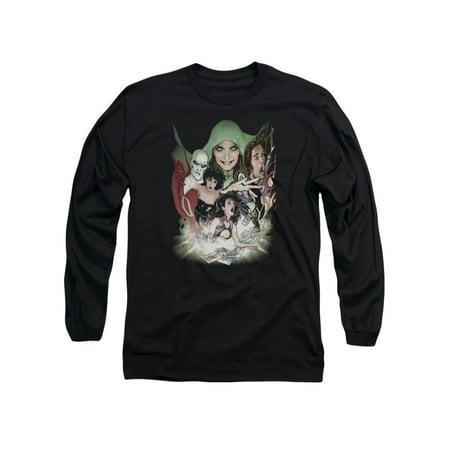 DC Comics Justice League Dark Deadman Zatanna Enchantress Adult L-Sleeve T-Shirt - Dc Enchantress