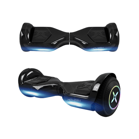 Hover-1 Allstar UL Certified Electric Hoverboard w/ 6.5in LED Wheels, LED Sensor Lights; Lithium-ion 14 Cell Battery; Ideal for Boys and Girls 8+ and Less Than 220 lbs - Black