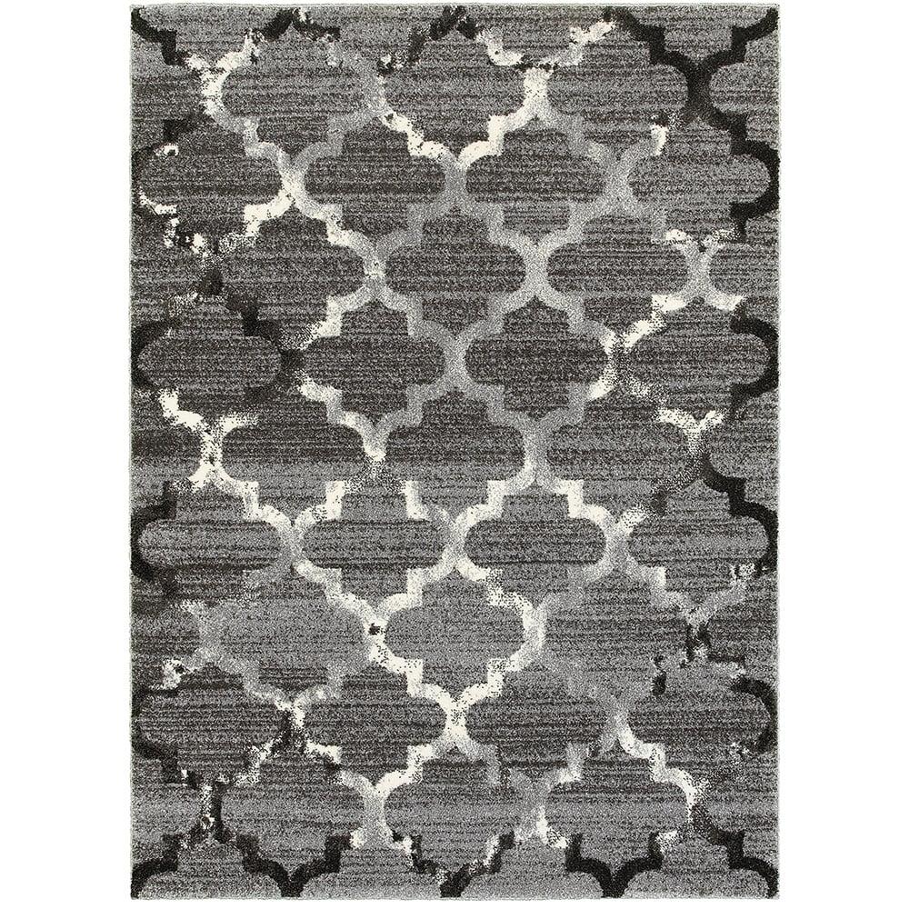 Lr Resources Soft Shag White Light Grey Indoor Area Rug 5