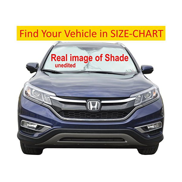 Car Sun Shade For Windshield Hassle Free Size Chart For Your Car Truck Suv Minivan Excellent Uv Reflector Keeping You Cooler With A Pristine Interior Sunshades Easy To Use Medium Walmart Com