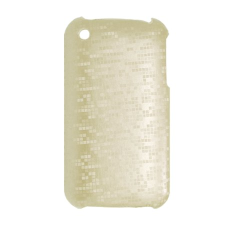 Plastic Hard Checked Cover Phone Case Silver Tone For Iphone 3G
