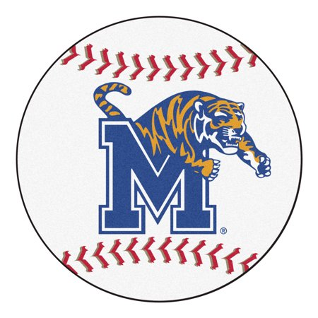 1447 Fanmats College NCAA University of Memphis 27 Inch diameter Nylon Face durable Non-skid chromojet-printed washable Baseball Mat Southern University Baseball Rug