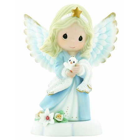 , In The Radiance Of Heaven's Light, Bisque Porcelain Figurine, Angel, 930012, A radiant angel holds a pure white dove and shares a message of peace to.., By Precious Moments Ship from US ()