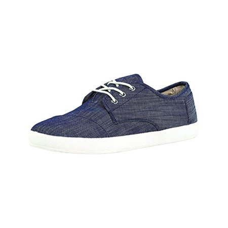 Toms Men's Paseo Chambray Light Blue Ankle-High Canvas Walking Shoe -