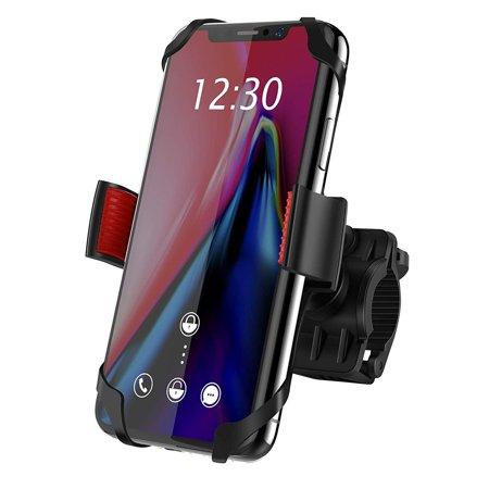 IPOW Plastic Universal Mobile Phone Bike Bicycle Holder Handlebar Adjustable Bracket Mount for Smartphone iPhone X 8 8 Plus 7 7 Plus 6 6s Plus Samsung Galaxy S9 S8 S7