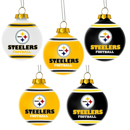 Steelers Christmas Ornaments.Forever Collectibles Nfl 5 Pack Shatterproof Ball Ornaments Pittsburgh Steelers