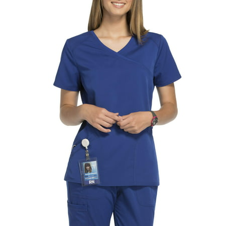 - Scrubstar Women's Premium Rayon Mock Wrap Scrub Top