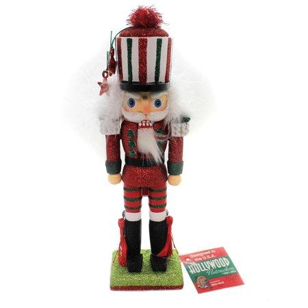 Christmas TRADITIONAL NUTCRACKER Wood Stars Tassels Ha0494 Red