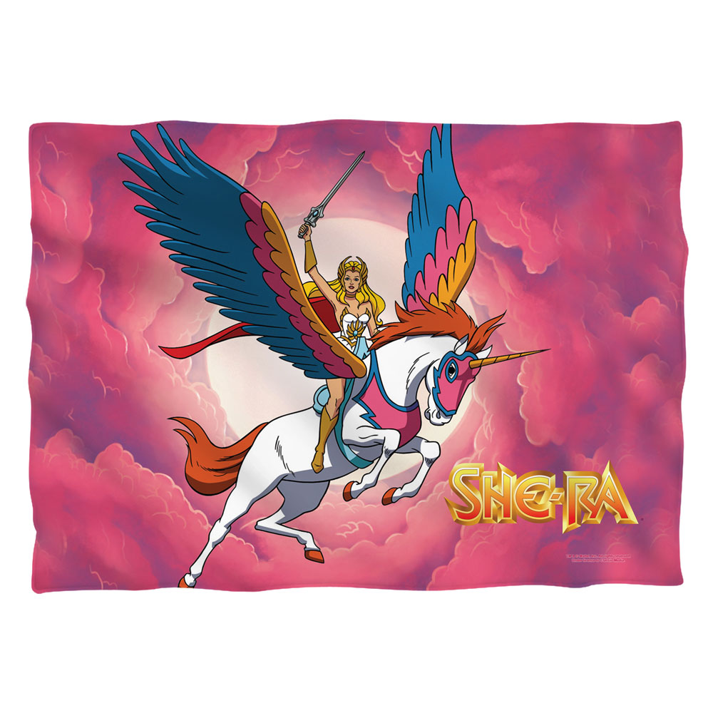 She Ra Clouds (Front Back Print) Poly 20X28 Pillow Case White One Size