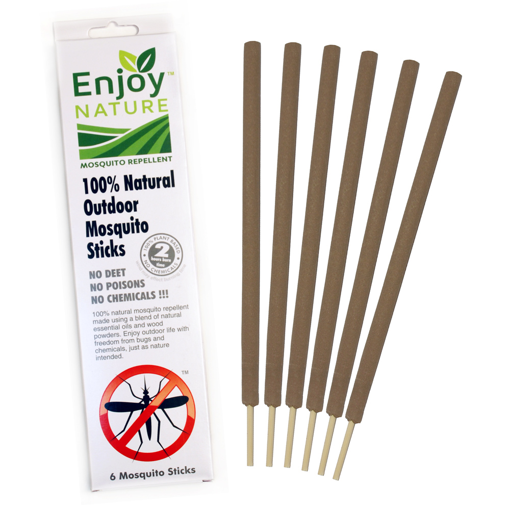 100% Natural Outdoor Mosquito Stick Biodegradable Pest Control Repellent 6 Ct.