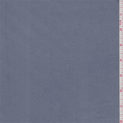 Slate Blue Microsuede, Fabric By the Yard