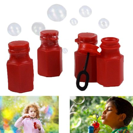 Dazzling Toys Mini Hexagon Red Bubble Bottles - Pack of 6 - Add Some