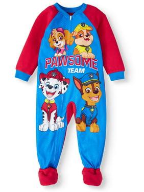 Paw Patrol Toddler Boy Microfleece Blanket Sleepers Pajamas