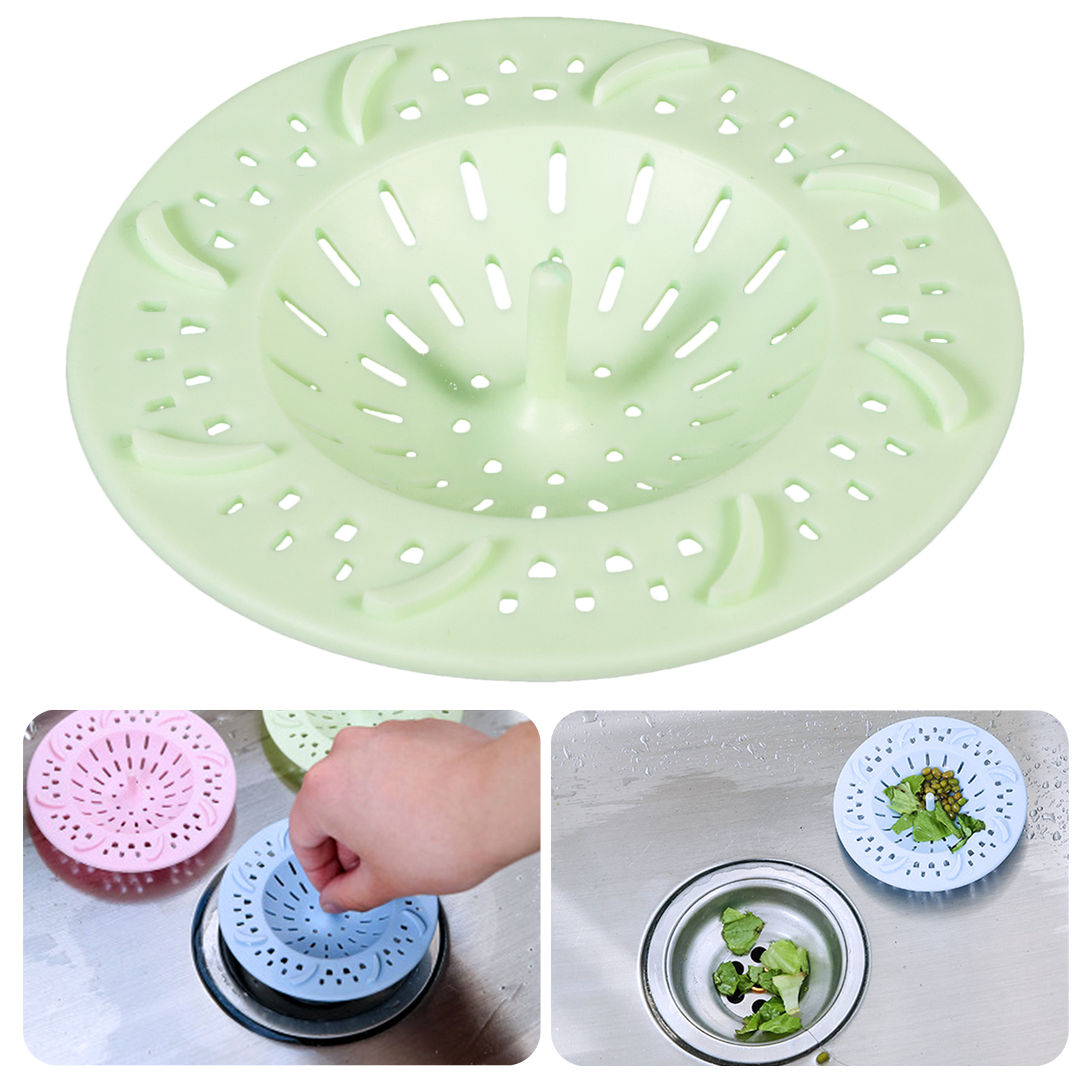 EEEKit Drain Tub Strainer Cover, Soft Silicone Hair Sink Trap Basin Stopper Filter Catcher Shower Bath, Home Accessory