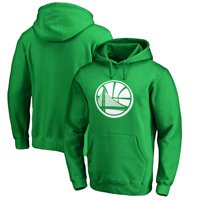 Golden State Warriors Fanatics Branded St. Patrick's Day White Team Logo Pullover Hoodie - Kelly Green