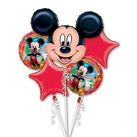 Anagram Mickey Mouse Foil Balloon Bouquet Cluster, By Mickey Minnie Mouse](Mickey And Minnie Mouse Decorations)