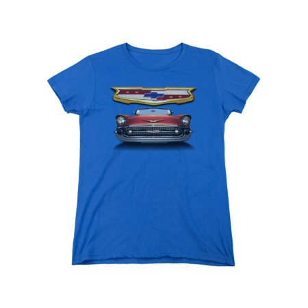 Chevrolet Automobiles 1957 Chevy Bel Air Classic Car Grille Women's T-Shirt (1957 Grille)
