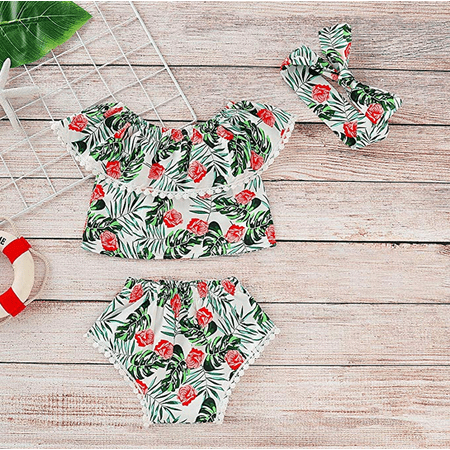 Baby Toddler Girl Ruffled T Shirts High Waist Shorts Summer Outfits with