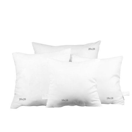 Pal fabric square euro pillow insert 26quotx26quot walmartcom for 26 inch square pillow insert