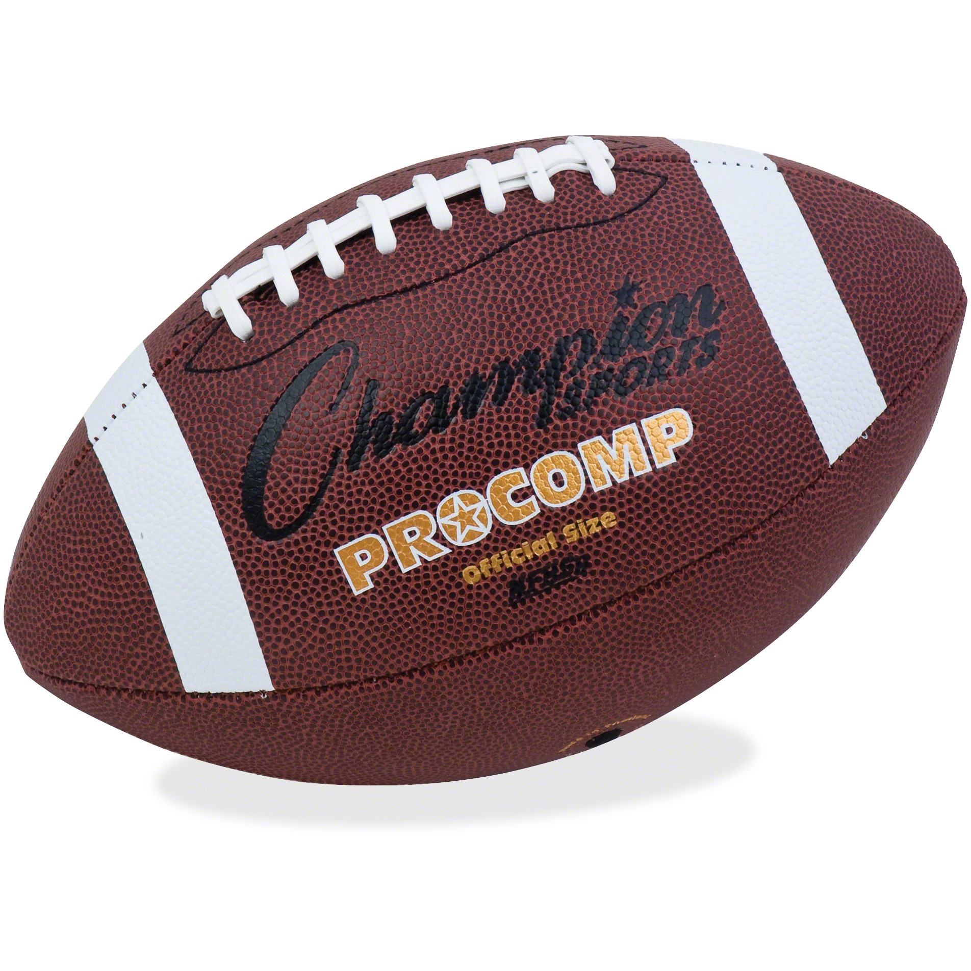 Champion Sport s Pro Comp Official Size Football, Brown, 1 Each (Quantity) by CHAMPION SPORT
