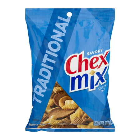 (2 Pack) Chex Mix Traditional Savory Snack Mix, 8.75 oz Bag - Halloween Chex Mix Salty