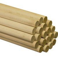 "Wooden Dowel Rods – 1"" x 36"" Unfinished Hardwood Sticks – For Crafts and DIY'ers – 2 Pieces – Woodpecker Crafts"
