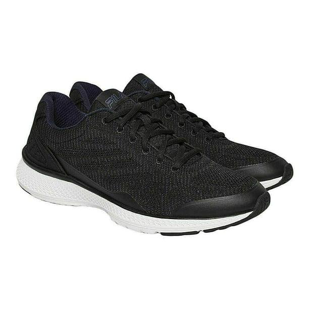 black running shoes : Fila Men's Memory Foam Athletic Running Shoes - Grey or Black