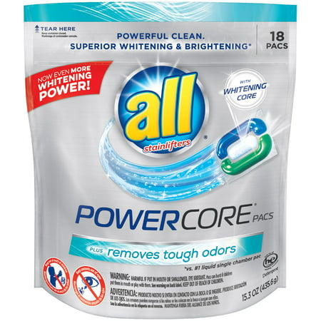 all POWERCORE PACS Laundry Detergent 18 ct Pouch