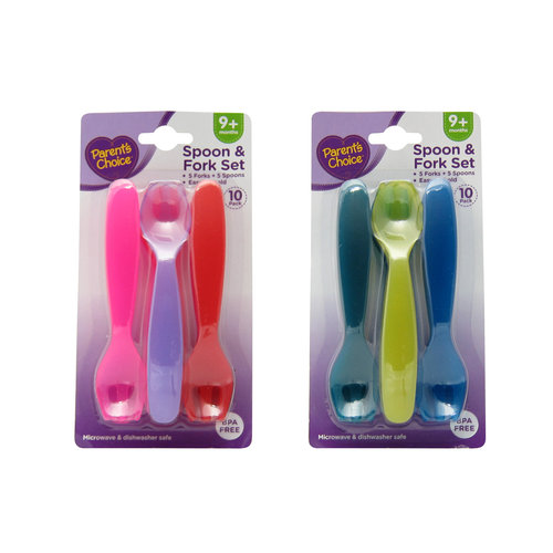 Parent's Choice Spoon & Fork Set, 10 pc