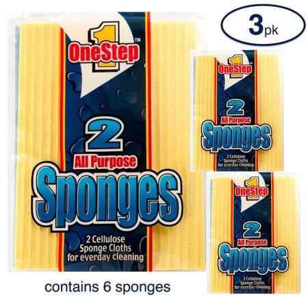 12 Wide Yellow Sponge (Sponge Cloth 6ct )