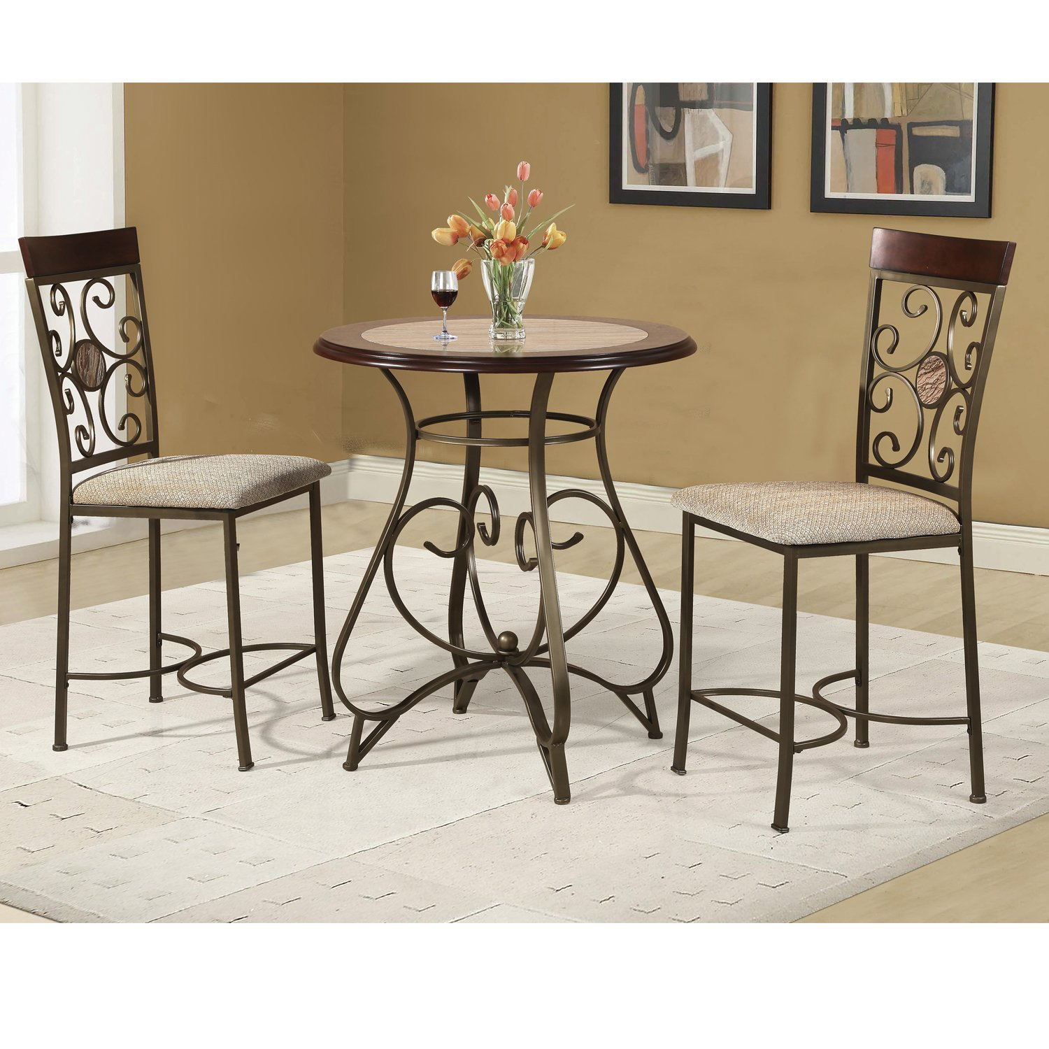 Home Source 3 Piece Counter Height Dinette