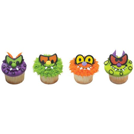 Scary Eyes Cupcake Rings 12 Count - Scary Halloween Cupcakes