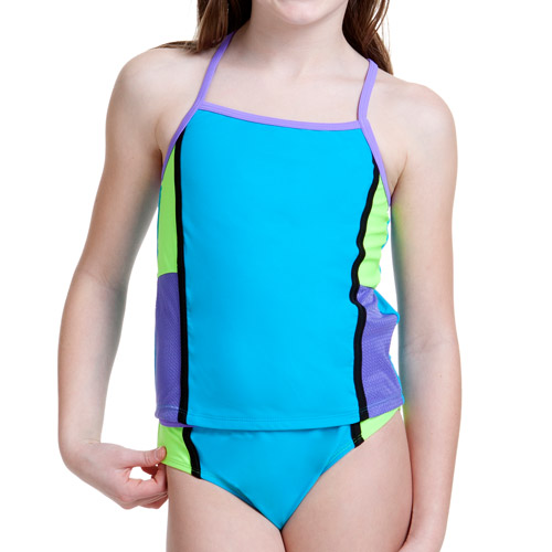 Op Girls' 2 Piece Athletic Active Tankini Set