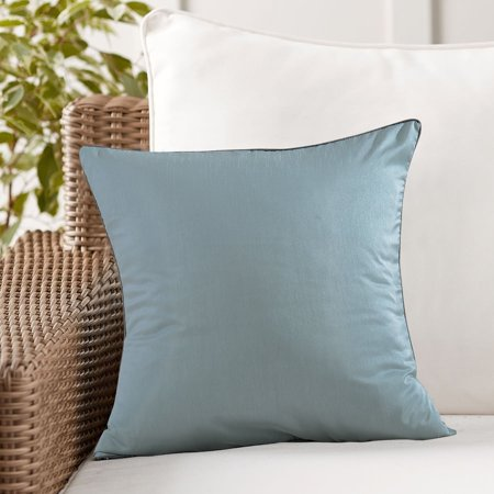 Evolive Faux Silk Solid Color Euro Sham Pillow Cover 26