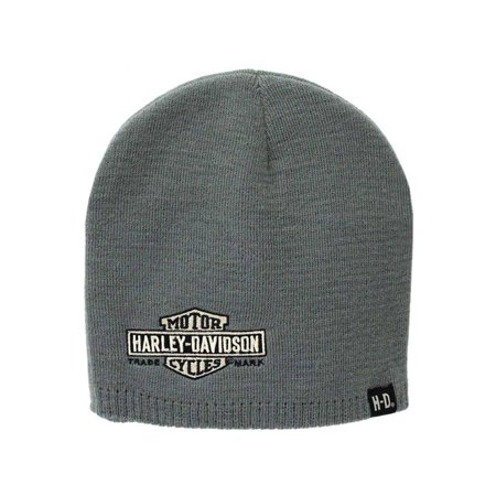 Harley-Davidson Mens Embroidered Elongated Bar & Shield Knit Beanie, KNCUS022480, Harley Davidson