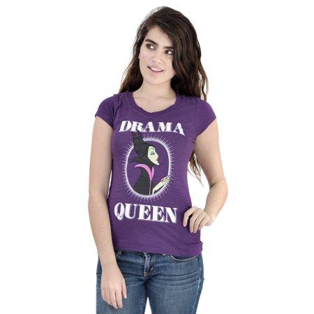 Disney Sleeping Beauty Maleficent Drama Queen Juniors T Shirt