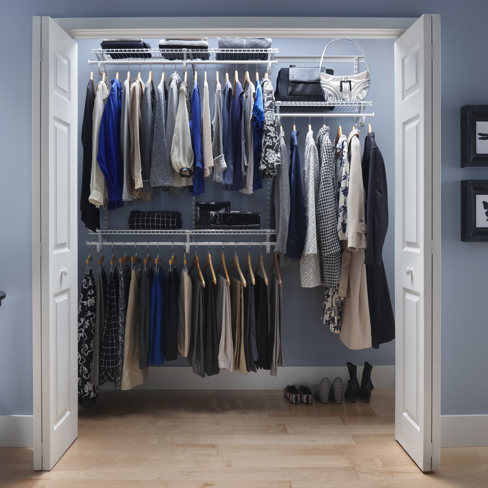 Mainstays Closet Storage, Silver/Black   Walmart.com