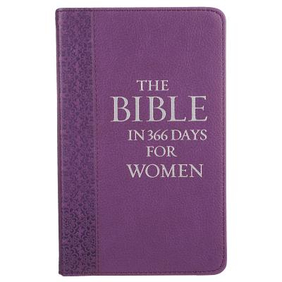 Lux-Leather Purple - The Bible in 3665 Days for Women