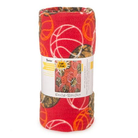 red basketball print anti pill fleece fabric roll. Black Bedroom Furniture Sets. Home Design Ideas