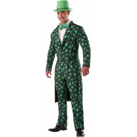 Adult's Mens St. Patrick's Day Shamrock Formal Suit Costume - Shamrock Costume