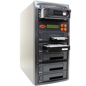 SySTOR 1:5 SATA IDE Combo Hard Disk Drive (HDD SSD) Duplicator Sanitizer -High Speed (150mb sec) (SYS505HS) by Systor