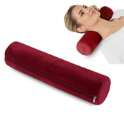 Round Cervical Roll Cylinder Bolster Pillow, Memory Foam Removable Washable Cover, Ergonomically Designed for Head, Neck, Back, and Legs || Ideal for Spine and Neck Support During Sleep