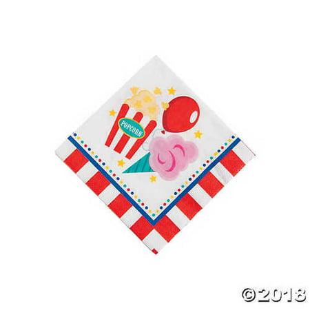Carnival Beverage Napkins - Carnival Napkins