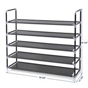 Zimtown Shoe Rack Organizer Storage Pairs Shoes Shelves Space 5 Tier 25 Pairs Standing