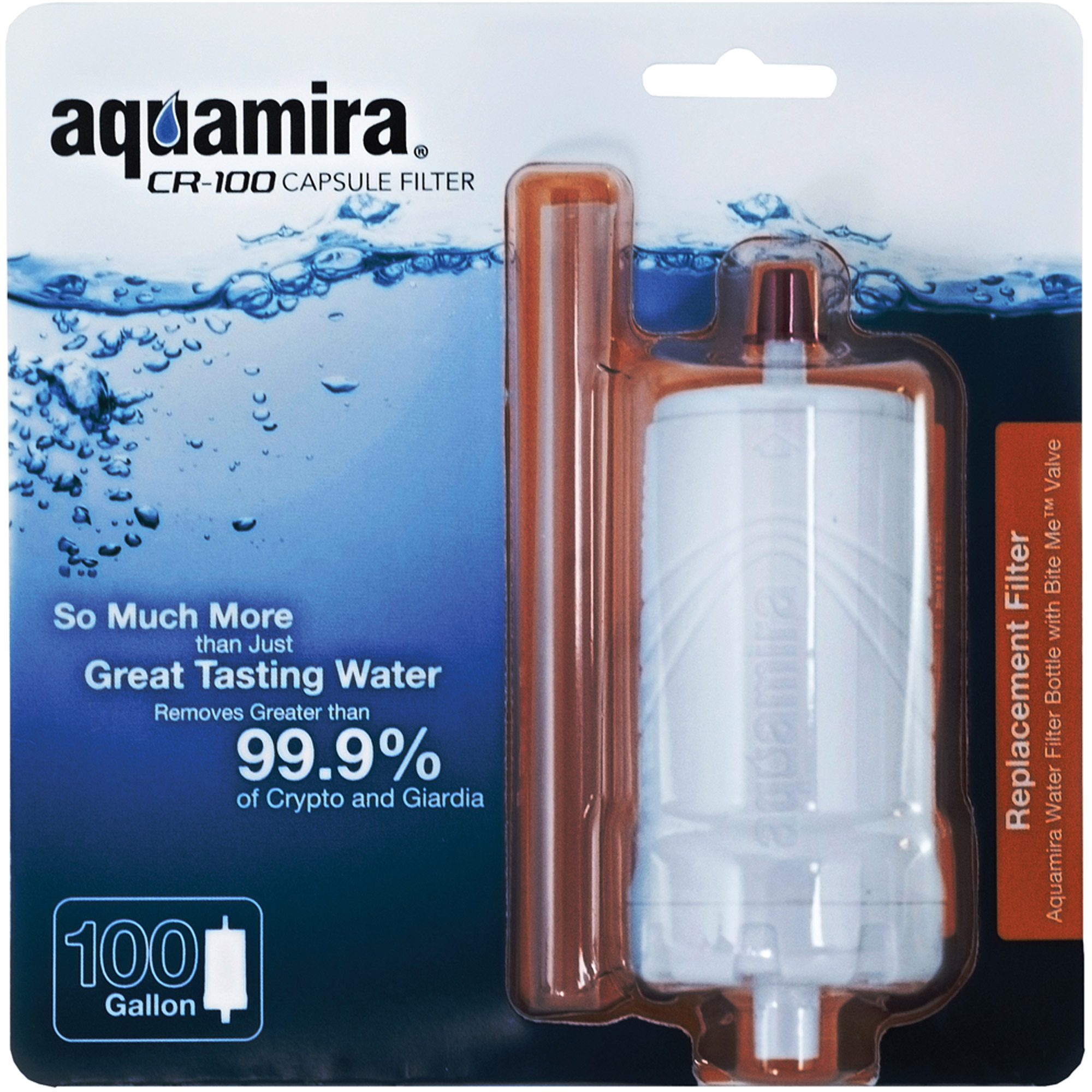 Aquamira CR-100 Capsule Filter, CR Filtration, Technology 100 Gallon Capacity