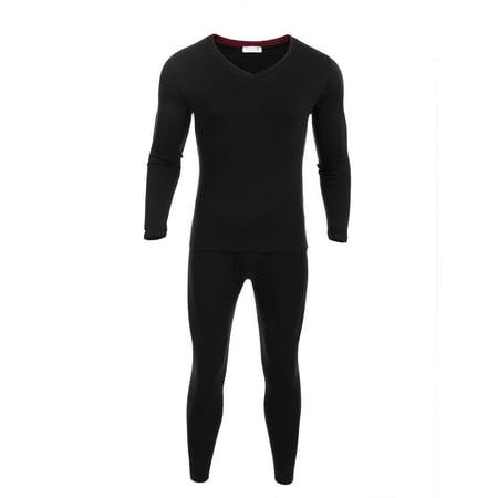 Men Thermal Underwear Set Long Sleeve Tops Long Leggings Pants WSY