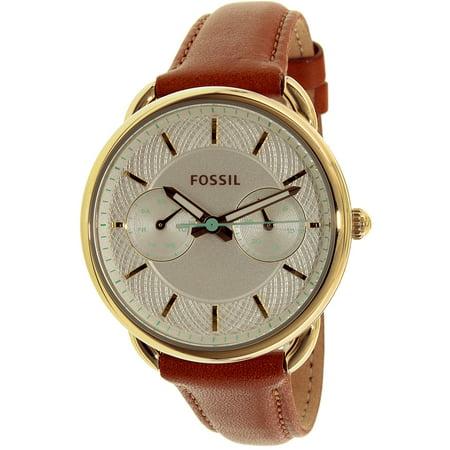 Fossil Womens Tailor Es4006 Brown Leather Quartz Fashion Watch
