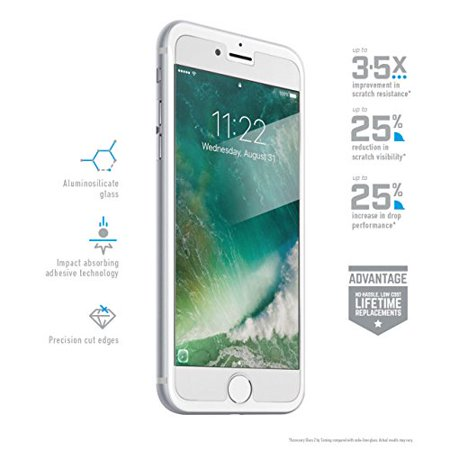 45d12c3ba64845 BodyGuardz Pure2 Premium Glass Screen Protector for Apple iPhone 7 Plus -  Walmart.com